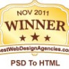 Awaerded, Rated, Ranked, Winner - Best in PSD to HTML