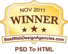 Awarded, Rated, Ranked, Winner - Best in PSD To HTML